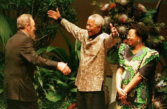 Nelson Mandela y su gran amigo, Fidel Castro