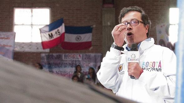 Alcalde Petro en intervención en la localidad de Keneddy