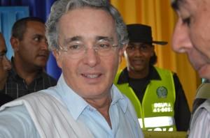 Álvaro Uribe Vélez, el principar opositor al gobierno de Santos (Foto Angélica Torres, Periodismo Sin Fronteras)