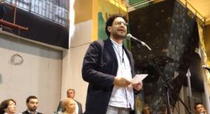 Andrés Villamizar, director de la UNP, en homenaje a la UP, en noviembre 16 de 2013. Aquí con Iván Cepeda y Piedad Córdoba.