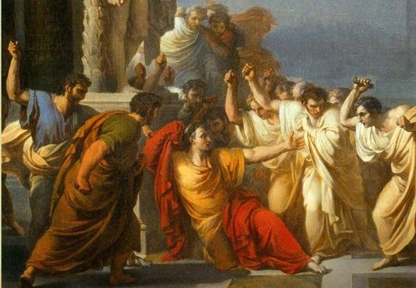 Representación del asesinato de Julio César