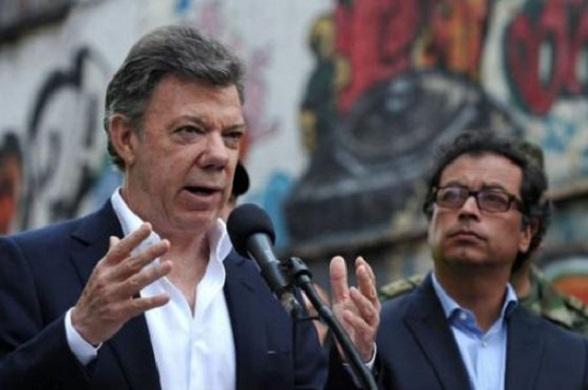 Juan Manuel Santos y Gustavo Petro (Foto El Espectador)