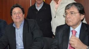 Francisco Santos y Carlos Holmes Trujillo