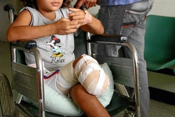 Uno de los miles de niños víctimas de las minas que colocan las FARC