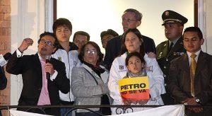 Petro y Aida Avella. En las elecciones de marzo de 2014, la izquierda sufrió una derrota contundente