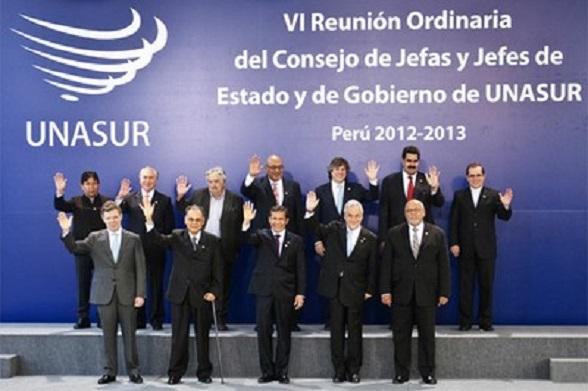 Reunión de Unasur en Lima, en abril de 2013