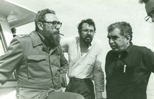 Gabriel García Márquez con Fidel Castro y Felipe López Caballero, dueño de la Revista Semana
