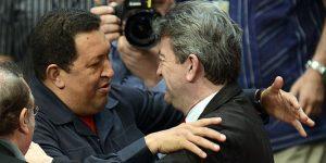 Chávez y Jean Luc Melenchon