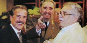 Gabriel García Márquez con Fidel Castro y Andrés Pastrana, celebrando la idea de caguanizar a Colombia