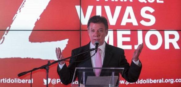 Juan Manuel Santos en el Partido Liberal, su partido