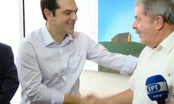 Alexis Tsipras y Lulla da Silva
