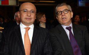 El Fiscal Eduardo Montealegre con César Gaviria