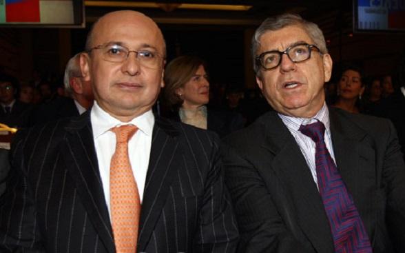 El Fiscal Eduardo Montealegre con César Gaviria, director de la campaña reeleccionista de Juan Manuel Santos