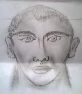 Retrato hablado del agresor, proporcionado por un testigo de los hechos