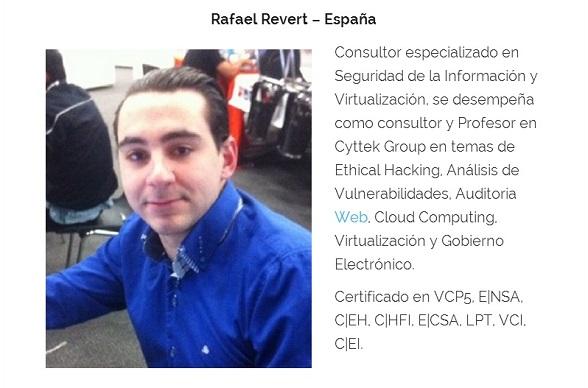 Rafael Revert, en un evento en Bolivia