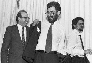 """Humberto de La Calle, Alfonso Cano, Iván Márquez, durante otros fallidos """"diálogos de paz"""""""