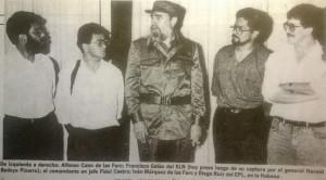 Esta no es la primera vez que Castro contribuye al engaño de la paz. Aquí está con varios bandidos de diversas vertientes