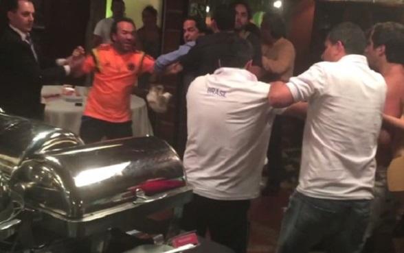 Yamid Amat, un alto ejecutivo de Pacific Rubiales, Manolo Cardona y los hijos de Juan Manuel Santos se vieron involucrados en una pelea en Brasil