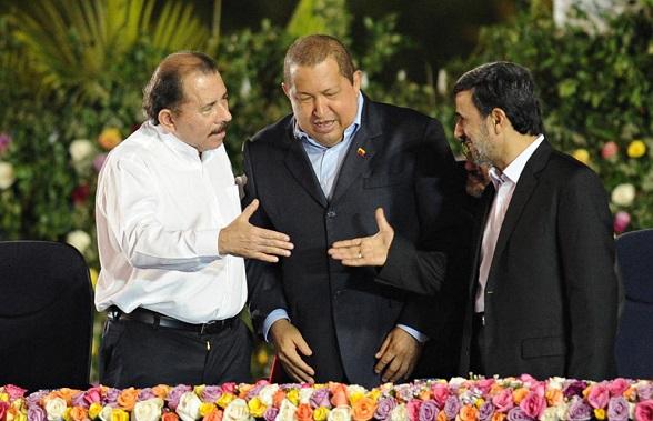 Daniel Ortega, Almanideyad y Hugo Chávez