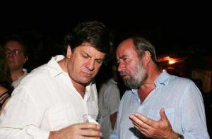 Antonio Caballero y Roberto Pombo, director de El Tiempo
