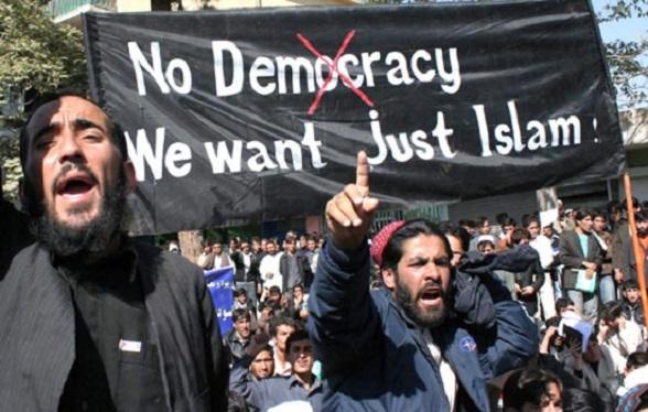 No Democracia, nosotros solo queremos Islam