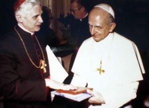 Pablo VI y el entonces Cardenal Joseph Ratzinger