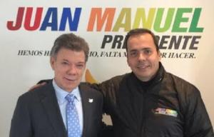 Juan Manuel Santos y JJ Rendón