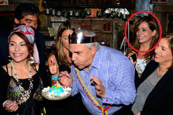 Ángela María Giraldo en el cumpleaños de Ernesto Samper, su protector