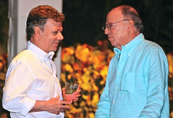 Juan Manuel Santos y su hermano Enrique Santos