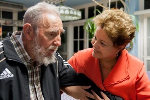 Dilma Rouseff y Fidel Castro, el padrino del terrorismo en América Latina