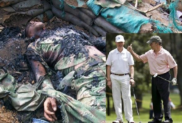 Mientras nuestros soldados mueren asesinados por los terroristas, Santos pasa su tiempo dialogando con ellos y jugando golf con sus aliados