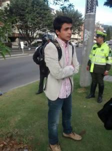 Lorent Saleh, el día de su rapto, este 4 de septiembre.