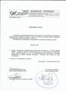 Ordenanza con la cual suspenden al Dr. Milton Pirez