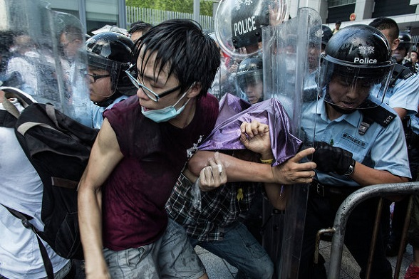 Disturbios en Hong Kong