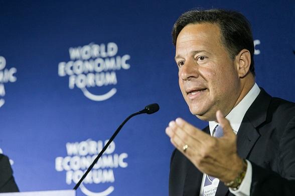 Presidente de Panamá Juan Carlos Varela