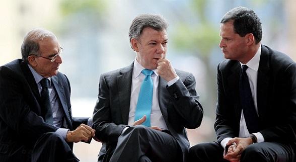 Humberto de la Calle, Juan Manuel Santos y Sergio Jaramillo