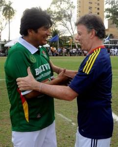 Evo Morales y Juan Manuel Santos