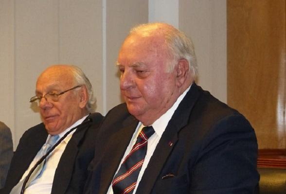 Vicealmirante y expresidente Luis Giampietri, con el General Ruiz Barrera