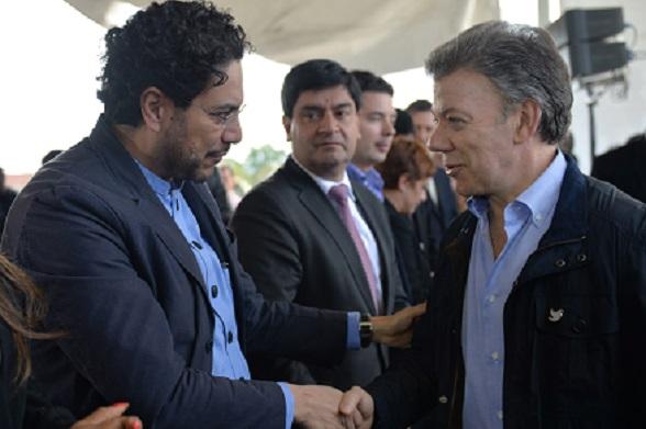 Juan Manuel Santos e Iván Cepeda