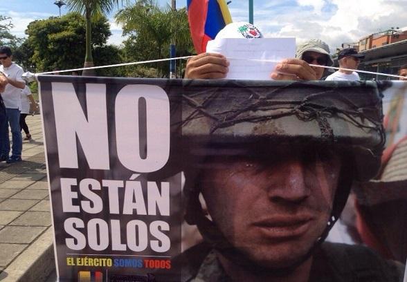 Pancarta de Medellín
