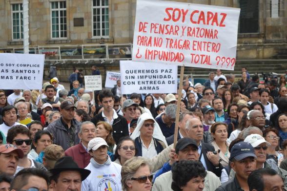 Paz sin impunidad y con entrega de armas.. Eso es lo que la mayoría de los colombianos queremos (Foto Periodismo Sin fronteras)