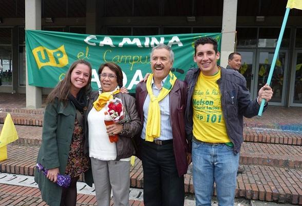 Jaime Caicedo y Aida Abella. Partido Comunista y Unión Patriótica-FARC.