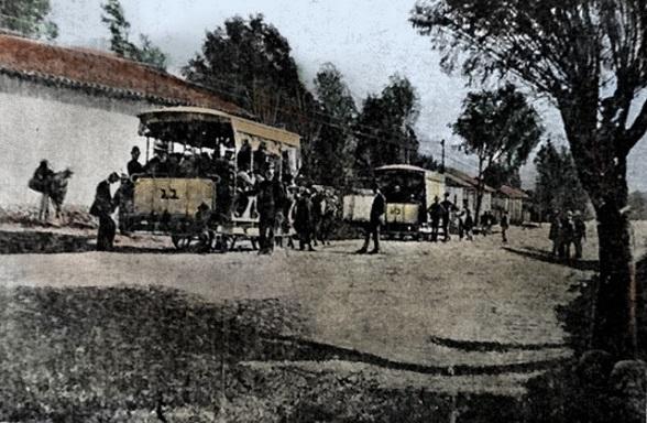 Tranvía en Bogotá. 1892
