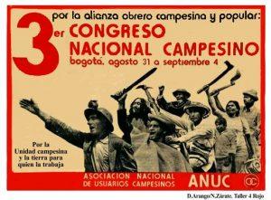 ANUC, una de sus numerosas marchas que organizó