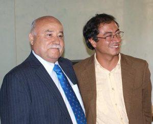 Abel Rodríguez, de la facción visible de ORP, y Gustavo Petro, terroristas indultado del M19 y alcalde de Bogotá