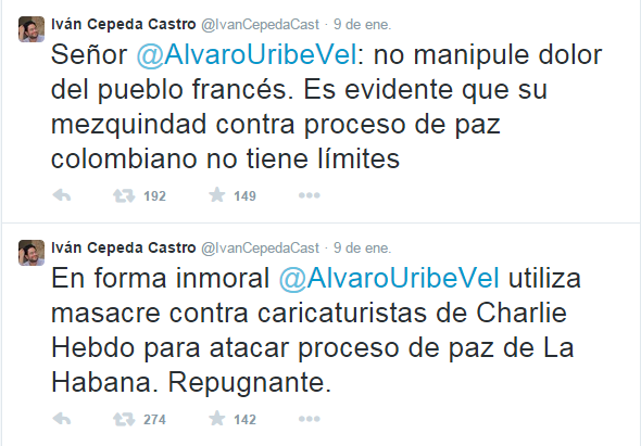 Trinos de Iván Cepeda