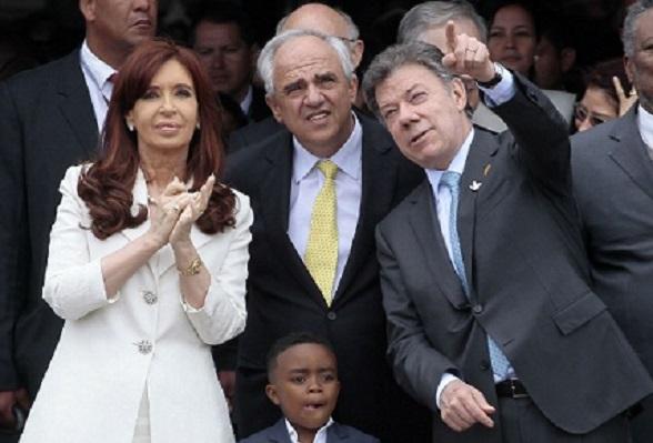 Cristina Fernández, Ernesto Samper y Juan Manuel Santos