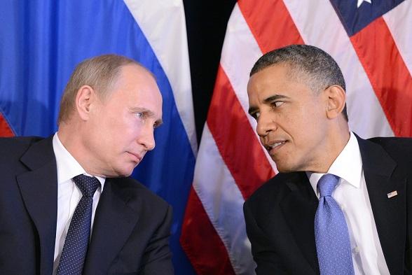 Presdentes Barack Obama y Vladimir Putin