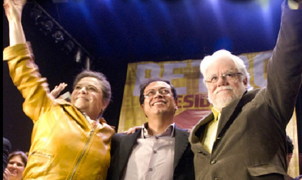 Clara López, Gustavo Petro y Carlos Gaviria