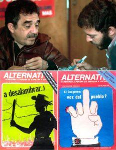 """Enrique Santos Calderón y Gabriel García Márquez, dos de los fundadores de """"Alternativa"""", el órgano propagandístico de los terroristas del M-19"""